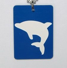 Plastic Dolphin Tag