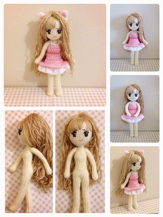Crochet Pattern Human Doll : Who wants Kiki, the adorable kitty cat girl? ^_^ https ...