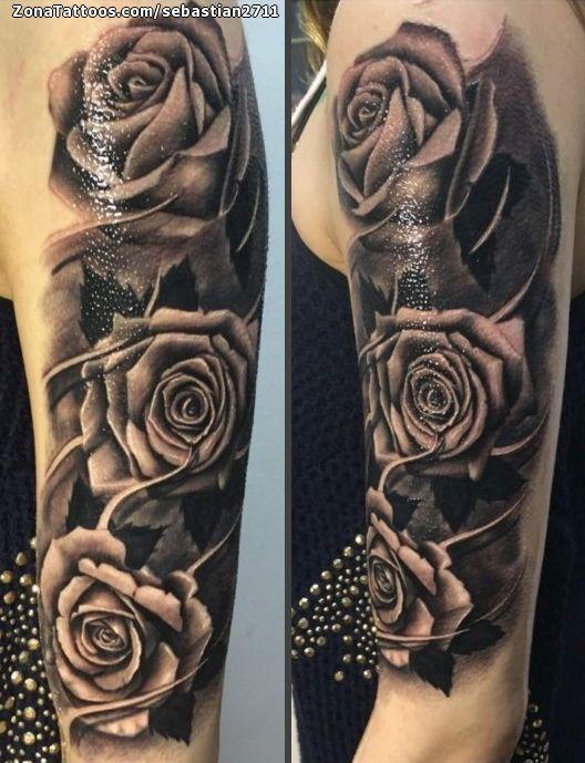 Tatuaje De Rosas Flores Brazo Zonatattoos Com Tatuajes De Rosas Tatuaje Brazo Flores Tatuajes De Rosas Para Hombres