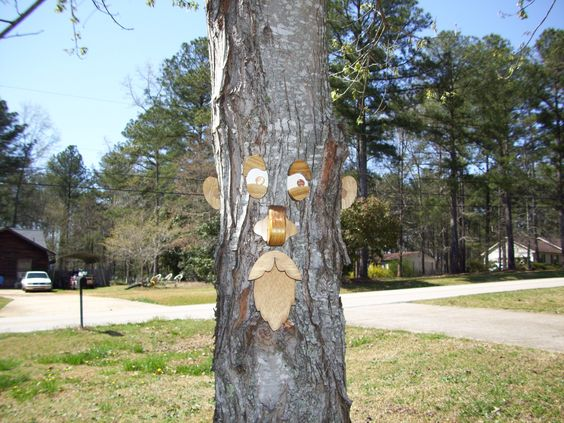 tree faces/ male