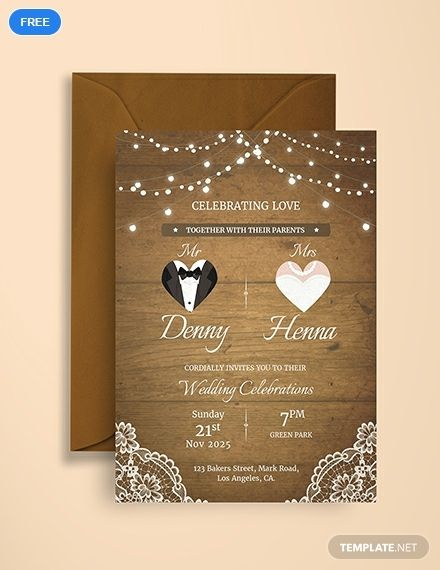 Free Vintage Wedding Invitation Card Template Word Doc Psd Indesign Apple Mac Pages Publisher E Card