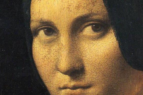"""Dettaglio ''Belle Ferronniere"""" Museo del Louvre Leonardo da Vinci"""