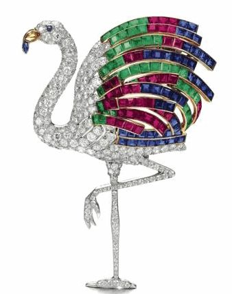 The Cartier Flamingo Brooch      (Acquired by the Duchess of Windsor) http://collectingfinejewels.blogspot.com/2010_11_01_archive.html;WOULD LOVE TO ADD THIS FLAMINGO TO MY COLLECTION