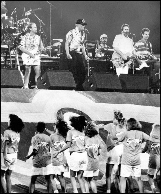 The Beach Boys in concert at Rosenblatt Stadium in Omaha. RUDY SMITH/THE WORLD-HERALD: