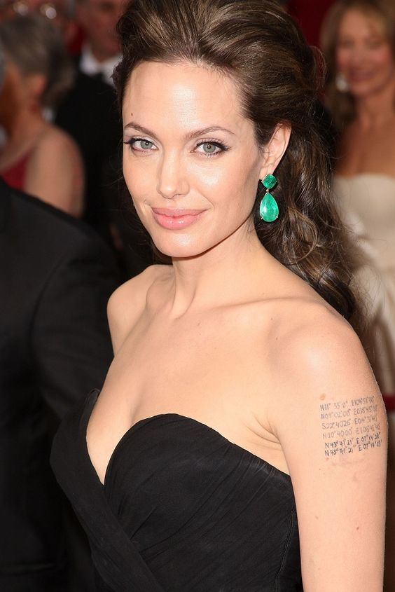 Angelina Jolie Tattoo - I wanna do coordinates to special places!