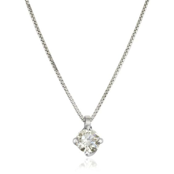 Forzieri Necklaces 0.23 ctw Diamond Flower Pendant 18K White Gold... (1,638 CAD) ❤ liked on Polyvore featuring jewelry, necklaces, box chain necklace, white gold pendant necklace, diamond flower pendant, diamond necklace and diamond flower necklace
