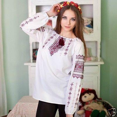 Ukrainian-HANDMADE-embroidered-shirt-for-ladies-blouse-sorochka-vyshyvanka