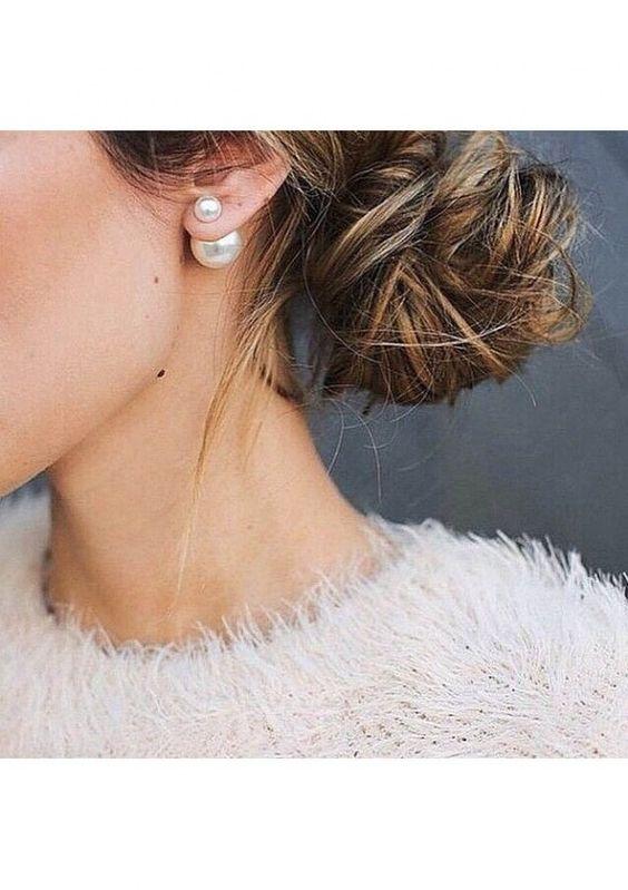 """Perl-Ohrringe """"Einfachheit"""" 14,95€ #happinessbtq"""