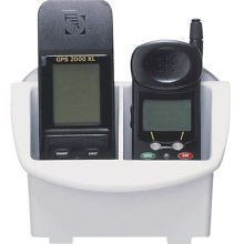 White Plastic GPS and Cell Phone Caddy for Boats