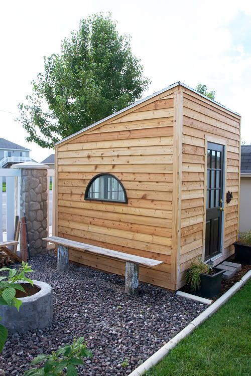 Backyards offices and diy and crafts on pinterest for Kids playhouse shed