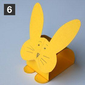Rond de serviette lapin pour d corer la table de p ques enfant bricolage paques bricolages - Bricolage lapin de paques ...