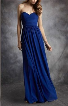 Floor-Length Sweetheart Ruched Chiffon Bridesmaid Dress