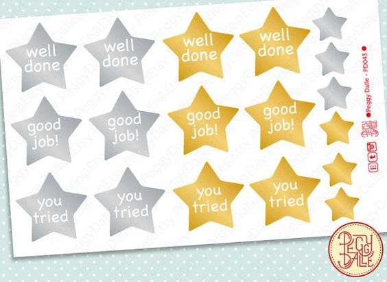 Gold \/ Silver Star Well Done Good Job You Tried Meme by PeggyDalle - job well done