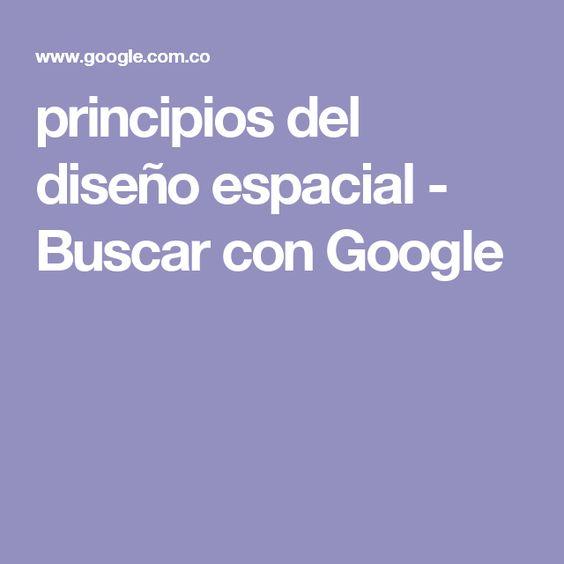 principios del diseño espacial - Buscar con Google