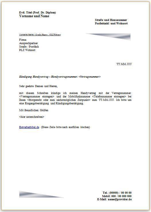 Muster Kundigung Mietvertrag Kundigung Vorlage Fwptc Com Kundigung Schreiben Handyvertrag Kundigung
