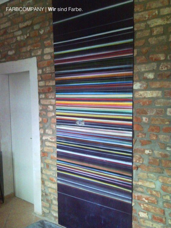 Individuelle Wandgestaltung mit Streifen Gestaltung Küche - wand streifen