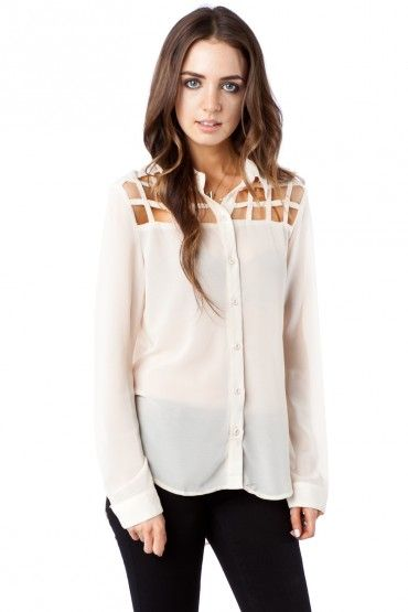 Porta Blouse in Ivory