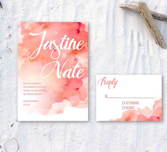 Printable Watercolor Invitation by ChirpPaperie on Etsy