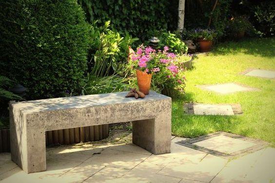 Concrete Garden Bench #furniture #decoration #patio #outdoors #durable