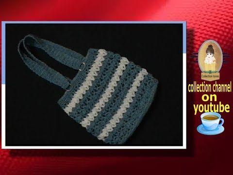 شنطة من بواقى الأقمشة شنطة بالباتشورك Youtube Tote Bag Reusable Tote Bags Reusable Tote