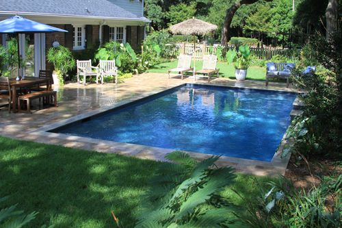 Rectangle Pool Pools And Waterfalls On Pinterest
