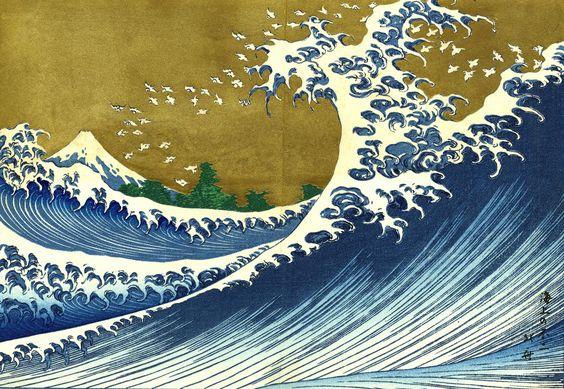 Hokusai, Katsushika: Kaijo no Fuji, del segundo volumen de las Cien vistas del monte Fuji (1834)