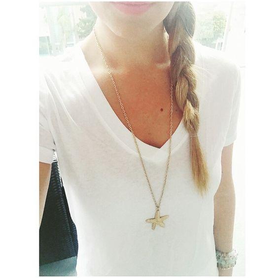 Love this starfish necklace Instagram: @caitlincarol_