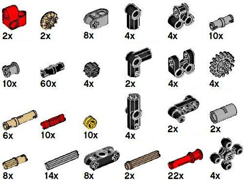 ☀️100x NEW LEGO Technic Mindstorm Ev3 Pins Bush Connector Parts Random Pickup