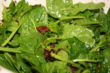 "Leaf Lettuce with Hot Bacon Dressing  ""Wilted Lettuce""  Had this alot in the summer when the garden came in."