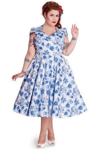 Hell Bunny Plus Size Constance Dress Vintage Rockabilly Swing ...