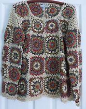 Kintamani by Wind River Granny Squares Crochet Sweater Sz. M