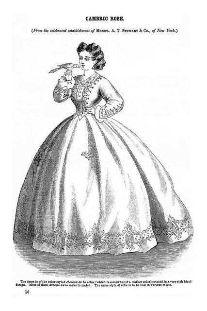 Cambrix Robe ~ Godey's Lady's Book, July 1864 | Flickr - Photo Sharing!: