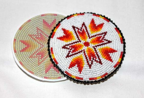 bead american rosette beading beadwork native beadboards