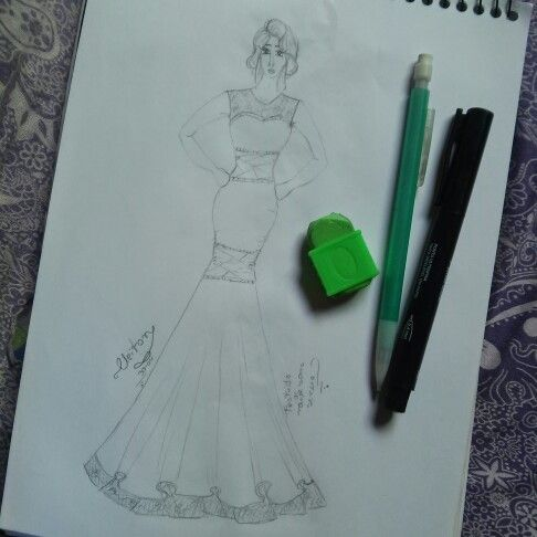 #croqui #moda #look #vestido#de#noiva #pinterest #vestido#sereia