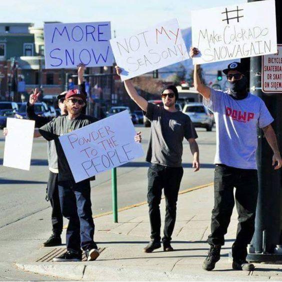 Protests in #Colorado today #makeColoradosnowagain