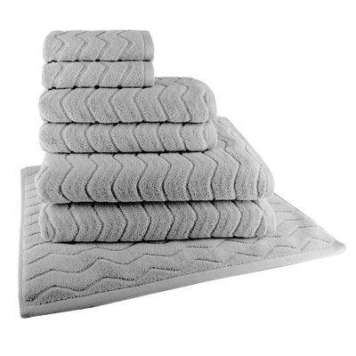 Latitude Run 7 Piece 100 Cotton Towel Set Color Grey Flannel