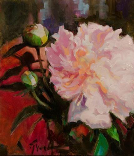 """Dubious Dame"" - Original Fine Art for Sale - © Jennifer Evenhus"