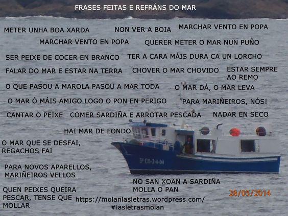 Frases feitas e refráns galegos que gardan relación co mar.