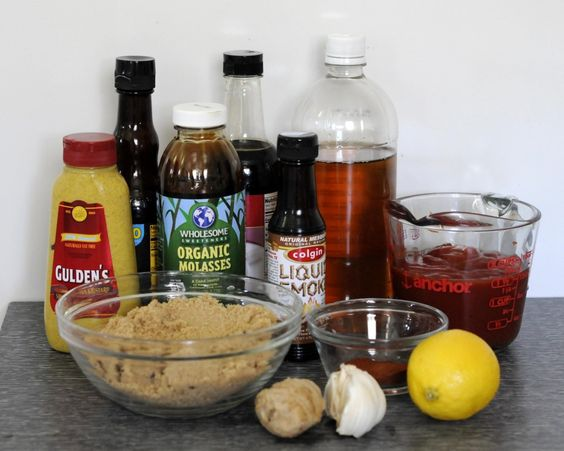homemade bbq sauce - this is DELICIOUS! I did not add liquid smoke as we don't like it and I used tamari instead of soy sauce and Wizard's Gfree worchestshire sauce to make it Gfree.