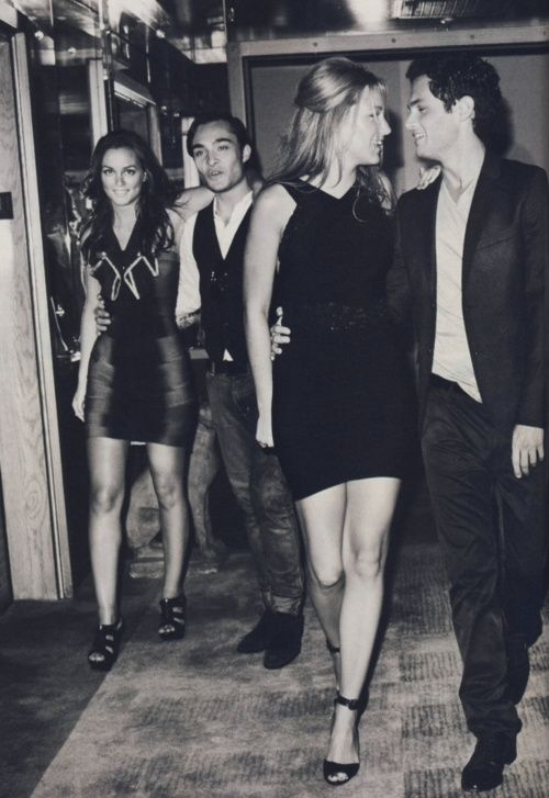 in love with this picture! Dan and Serena, and Chuck and Blair <3