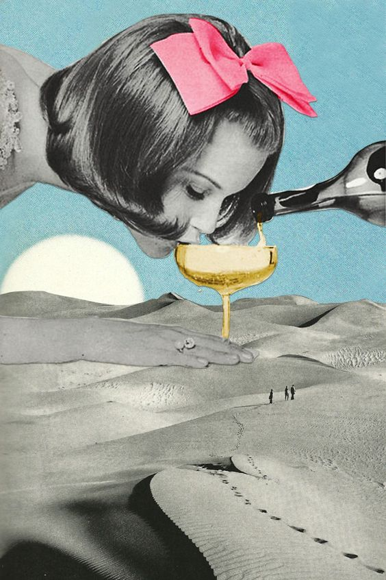 Diabetic Thirst via Eugenia Loli #Collage. Click on the image to see more!