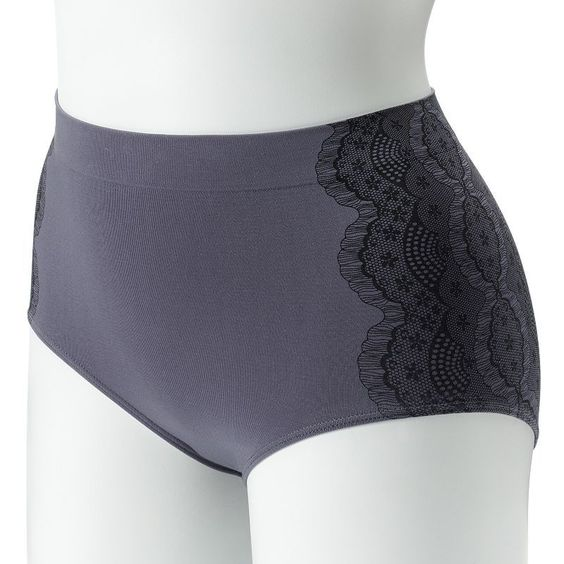 Bali One Smooth U All-Over Smoothing Brief 2361 - Women's, Size: 7, Grey
