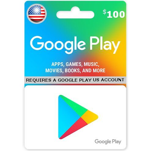 Google Play Card Usd 100 For Us Accounts Only Cartao