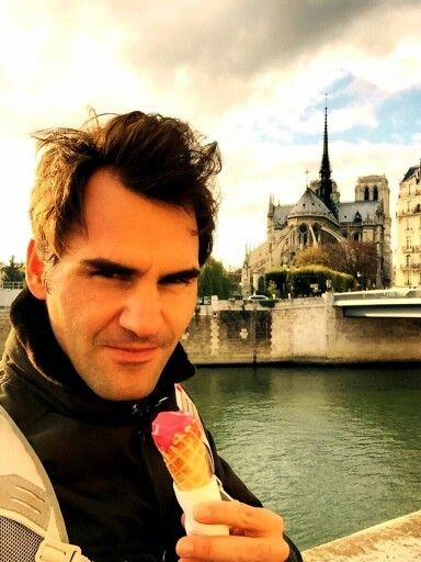 Image result for federer ice cream