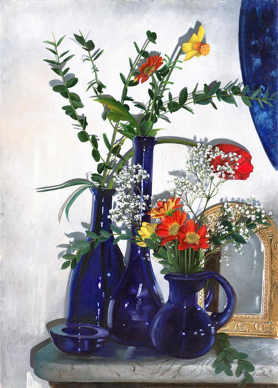 Danka Weitzen  (b.1950)  —  Flowers of Patrizia,  2013    (645x900)