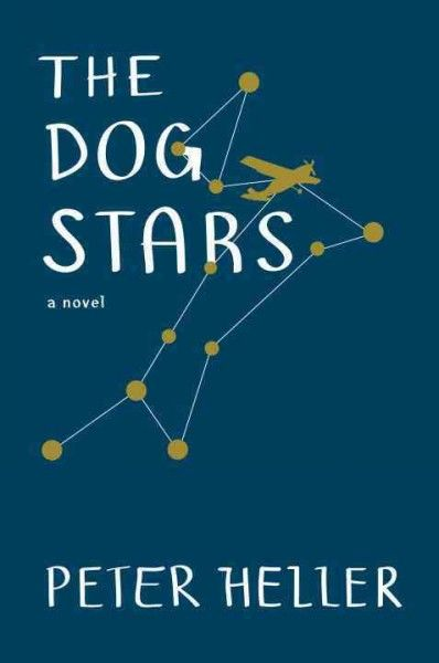 Dog Stars by Peter Heller.  Surviving a pandemic disease that has killed everyone he knows, a pilot establishes a shelter in an abandoned airport hangar before hearing a random radio transmission that compels him to risk his life to seek out other survivors.  LVCCLD