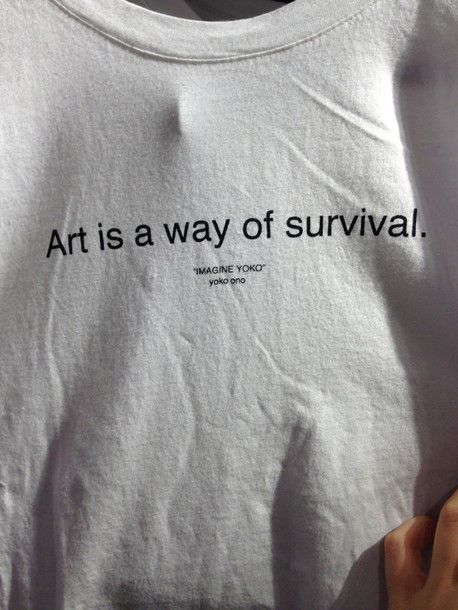 t-shirt art white grunge alternative pale art is a way of survival fashion quote on it cool hipster style pale grunge white t-shirt cotton