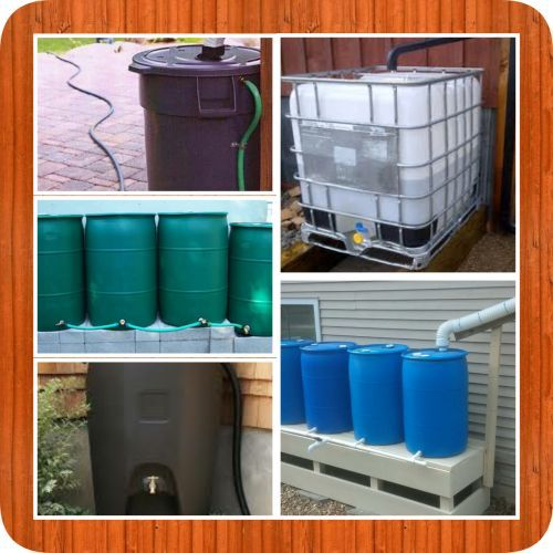 DIY Rain Water Catchment System - The average roof collects over 600 gallons of water for every inch of rainfall so why not harvest that water and make use of it.Rain water catchment systems don't have to be complicated and depending on the size they don't have to be expensive either. Here are just a few ideas for your very own diy rain water catchment system.
