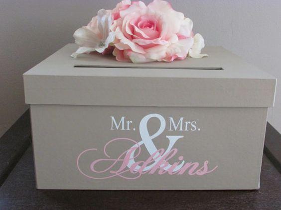 Tan Wedding Card Box Tan Ivory and Pink Wedding Card Holder 12 – Gift Card Box Wedding