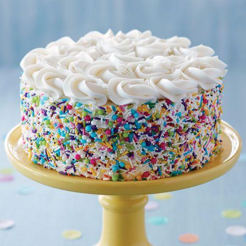 Outstanding Sprinkle On The Fun Birthday Cake Cake Cake Decorating Savoury Funny Birthday Cards Online Eattedamsfinfo